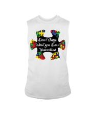 Autism don't judge what you don't understand Sleeveless Tee thumbnail