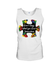 Autism don't judge what you don't understand Unisex Tank thumbnail