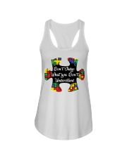 Autism don't judge what you don't understand Ladies Flowy Tank thumbnail
