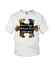 Autism don't judge what you don't understand Youth T-Shirt thumbnail