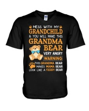 Mess with my grandchild and you will make V-Neck T-Shirt thumbnail