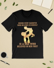 Behind every child who believes in himself is a da Premium Fit Mens Tee lifestyle-mens-crewneck-front-19