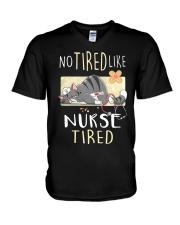 No tired like nurse tired cat  V-Neck T-Shirt thumbnail