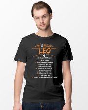 Top 10 rules of LEO give respect get respect Classic T-Shirt lifestyle-mens-crewneck-front-15