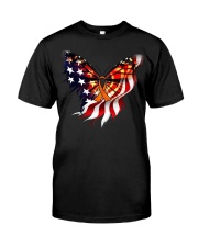 Orange butterfly ribbon Premium Fit Mens Tee thumbnail