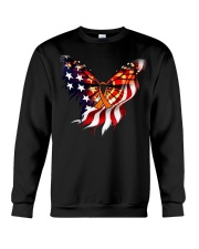 Orange butterfly ribbon Crewneck Sweatshirt thumbnail