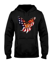 Orange butterfly ribbon Hooded Sweatshirt thumbnail