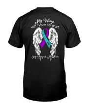 Suicide Awareness angel I am proud of Classic T-Shirt back