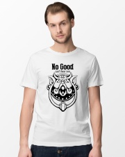 Labyrinth door knockers no good can't hear you Classic T-Shirt lifestyle-mens-crewneck-front-15