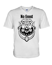 Labyrinth door knockers no good can't hear you V-Neck T-Shirt tile