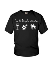 I'm a simple woman love wine flip dog and raise a  Youth T-Shirt thumbnail