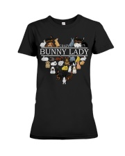 heart crazy bunny lady Premium Fit Ladies Tee thumbnail