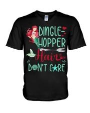 Dinglehopper hair dont care V-Neck T-Shirt thumbnail