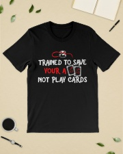 Trained to save your ass not play cards Premium Fit Mens Tee lifestyle-mens-crewneck-front-19