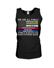We are all family dispatch corrections emt firefig Unisex Tank thumbnail