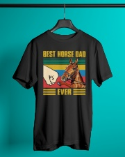 BEST HORSE DAD EVER Classic T-Shirt lifestyle-mens-crewneck-front-3
