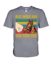 BEST HORSE DAD EVER V-Neck T-Shirt thumbnail