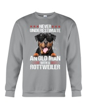 OLD MAN WITH ROTTWEILER Crewneck Sweatshirt tile