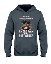 OLD MAN WITH ROTTWEILER Hooded Sweatshirt tile