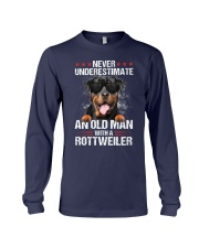 OLD MAN WITH ROTTWEILER Long Sleeve Tee thumbnail