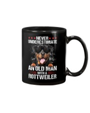 OLD MAN WITH ROTTWEILER Mug tile