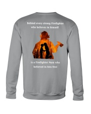 Behind Every Strong Firefighter Crewneck Sweatshirt thumbnail