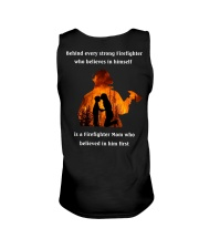 Behind Every Strong Firefighter Unisex Tank thumbnail