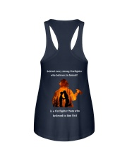 Behind Every Strong Firefighter Ladies Flowy Tank thumbnail