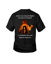 Behind Every Strong Firefighter Youth T-Shirt thumbnail