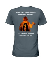 Behind Every Strong Firefighter Ladies T-Shirt thumbnail