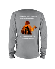 Behind Every Strong Firefighter Long Sleeve Tee thumbnail