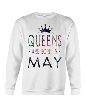 Queens Are Born in May Colorful Crewneck Sweatshirt thumbnail