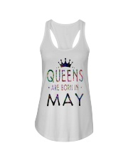 Queens Are Born in May Colorful Ladies Flowy Tank thumbnail