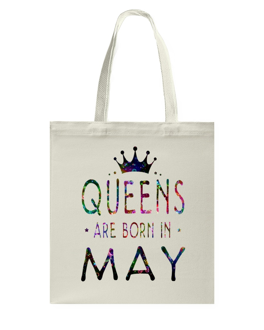 Queens Are Born in May Colorful Tote Bag