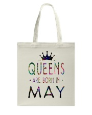 Queens Are Born in May Colorful Tote Bag front