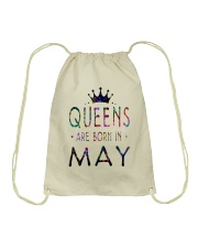 Queens Are Born in May Colorful Drawstring Bag thumbnail