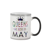 Queens Are Born in May Colorful Color Changing Mug thumbnail