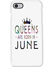 Queens Are Born in June Colorful Phone Case thumbnail