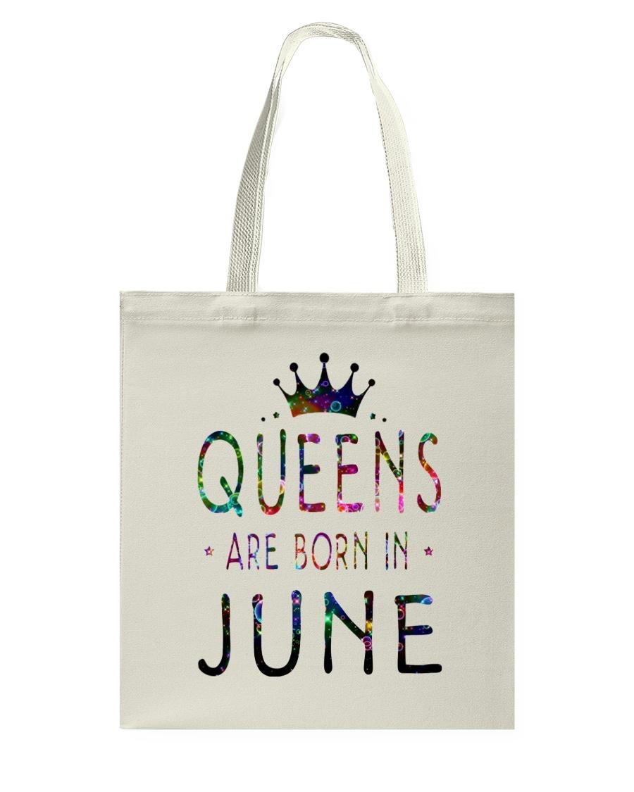 Queens Are Born in June Colorful Tote Bag