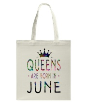 Queens Are Born in June Colorful Tote Bag front