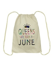 Queens Are Born in June Colorful Drawstring Bag thumbnail