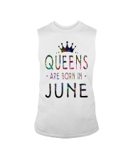 Queens Are Born in June Colorful Sleeveless Tee thumbnail