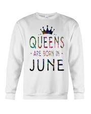 Queens Are Born in June Colorful Crewneck Sweatshirt thumbnail