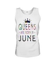 Queens Are Born in June Colorful Unisex Tank thumbnail