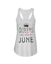 Queens Are Born in June Colorful Ladies Flowy Tank thumbnail