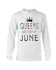 Queens Are Born in June Colorful Long Sleeve Tee thumbnail