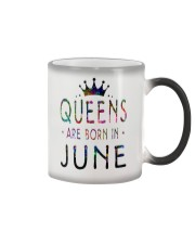 Queens Are Born in June Colorful Color Changing Mug thumbnail