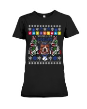 BULLDOG-CHRISTMAS Premium Fit Ladies Tee thumbnail