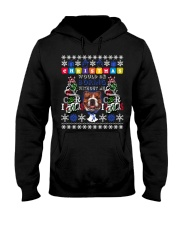 BULLDOG-CHRISTMAS Hooded Sweatshirt thumbnail
