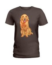 Golden Retriever Ladies T-Shirt thumbnail